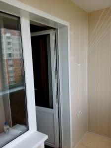 Внутренняя отделка (обшивка) балкона в Витебске