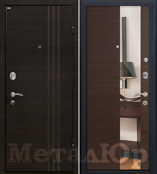 МеталЮр М15, венге кроскут, зеркало
