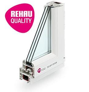 Rehau Brilliant Design - пластиковый оконный профиль Rehau в Витебске